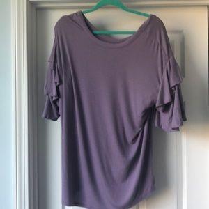 Purple maternity tunic top